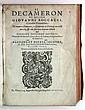 BOCCACCIO, GIOVANNI.  Il Decameron . . . Di nuovo ristampato. 1594