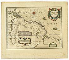 BLAEU, WILLEM and JAN. Guiana sive Amazonum Regio.