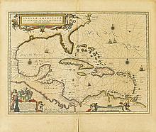 BLAEU, WILLEM. Insulae Americanae in Oceano Septentrionali, cum Terris adiacentibus.