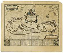 BLAEU, WILLEM. Mappa Aestivarum Insularum alias Barmudas.