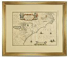 BLAEU, WILLEM. Virginiae partis australis, et Floridae partis orientalis.