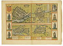 BRAUN, GEORG; and HOGENBERG, FRANZ. Dubline, Galwaye, Lymericke, Corcker.