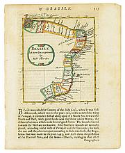 (BRAZIL.) Group of 12 engraved maps of Brazil and portions thereof,