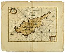 (CYPRUS.) Janssonius, Jan. Cyprus, Insula laeta choris blandorum et mater amorum.