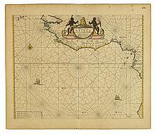 DONCKER, HENDRIK. Paskaart van Guinea.