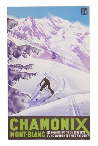 MAX PONTY CHAMONIX. 1935.
