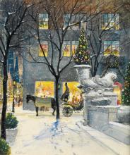 HARVEY KIDDER. Christmas Eve in New York [Plaza Hotel].