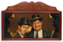 (ADVERTISING.) (LAUREL & HARDY.) Traveling Show Sign.