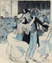 (FRENCH CARTOONS.) Portfolio of Belle Époque illustrations.