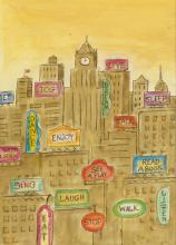(THE NEW YORKER.)  BEATRICE SZANTON. Fun in New York.