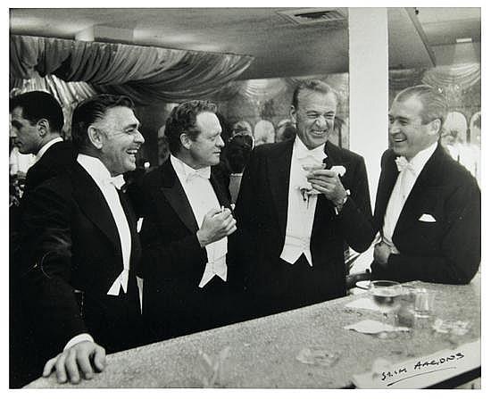 """AARONS, SLIM (1916-2006) """"The Four Kings of Hollywood (Clark Gable, Van Heflin, Gary Cooper and Jimmy Stewart)"""