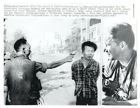 ADAMS, EDDIE (1933-2004) Untitled (Vietcong officer executed, with picture of Adams at right).