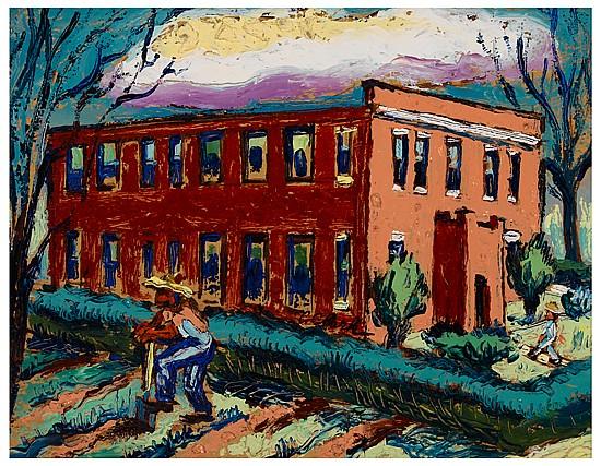 CLAUDE CLARK (1915 - 2001) Drewry Hall, Talladega College.