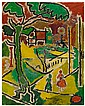 BEAUFORD DELANEY (1901 - 1979) Untitled (Washington Square Park)., Beauford Delaney, Click for value