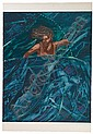 EMMA AMOS (1938 -   ) Water Wonder Woman., Emma Amos, Click for value