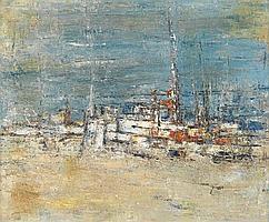 DELILAH WILLIAMS PIERCE (1904 - 1992) Fishing Boats.