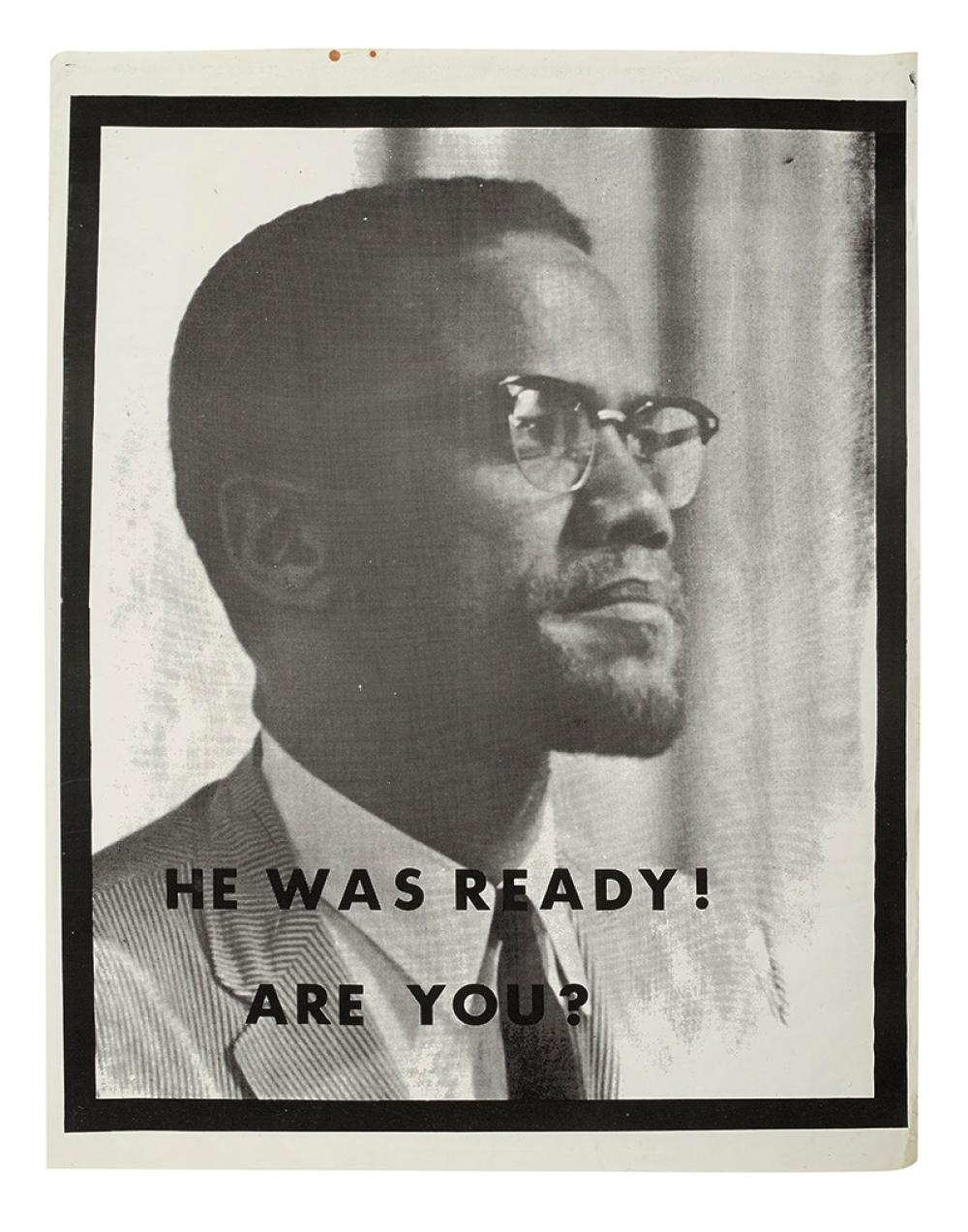 MALCOLM X He Was Ready Are You Malcolm Gun Poster