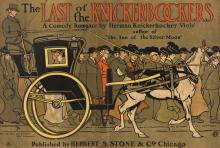 EDWARD PENFIELD (1866-1925). THE LAST OF THE KNICKERBOCKERS. Circa 1901. 20x29 inches, 50¾x73½ cm. Carqueville Litho Co., Chicago.
