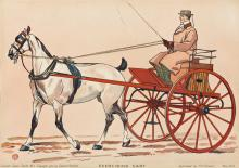 EDWARD PENFIELD (1866-1925). COUNTRY CARTS. Two posters. 1900. Each 15¼x21½ inches, 38¾x54½ cm. R.H. Russell, New York.