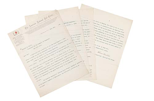 BARTON, CLARA. Typed Letter Signed, as President of the American Red Cross, to Charles S. Smith, President of the New York Chamber of Commerce,