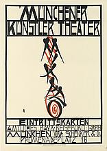 ERWIN DOMINIK OSEN (1891-1970). MUNCHENER KUNSTLER THEATER / MIKADO. 1913. 40x28 inches, 101x28 cm. G. Shuh, Munich.