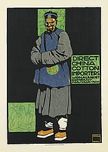 LUDWIG HOHLWEIN (1874-1949). DIRECT CHINA COTTON IMPORTERS. Circa 1910. 32x23 inches, 82x59 cm. G. Schuh & Cie., Munich.
