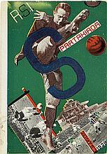 GUSTAV KLUTSIS (1895-1938). SPARTAKIADA. Postcard. 1928. 5x4 inches, 14x10 cm. Izvestiya, Moscow.