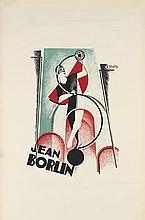 SERGE GLADKY (1900-1930). JEAN BORLIN. 1929. 47x31 inches, 119x80 cm.