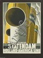 ADOLPHE MOURON CASSANDRE (1901-1968). NEW STATENDAM / HOLLAND - AMERICA LINE. 1928. 40x29 inches, 101x73 cm. Nijgh & Van Dittmar, Rotte