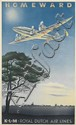 PAULUS CASPER ERKELEN (1912-?). K.L.M. / HOMEWARD. 1944. 39x23 inches, 100x59 cm.