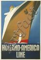 WILLEM FREDERICK TEN BROEK (1905-1993). HOLLAND - AMERICA LINE. 1936. 38x24 inches, 96x63 cm. Joh. Enschede en Zonen, Haarlem.