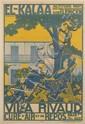 A. BODINIET (DATES UNKNOWN). EL - KALAA / VILLA RIVAUD. Circa 1930. 46x30 inches, 117x78 cm. Baconnier, Algiers.