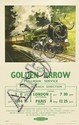 BARBER (DATES UNKNOWN). THE GOLDEN ARROW / PULLMAN SERVICE. Circa 1955. 40x24 inches, 101x63 cm. Jordison & Co., London.