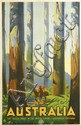 PERCY TROMPF (1902-1964). AUSTRALIA / THE TALLEST TREES IN THE BRITISH EMPIRE. Circa 1935. 39x25 inches, 101x63 cm.