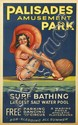 CARDWELL S. HIGGINS (1902-1983). PALISADES AMUSEMENT PARK. Circa 1937. 28x16 inches, 71x40 cm. Berkshire Poster Co., N.Y.C.
