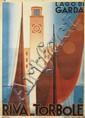 GIUSEPPE RICCOBALDI (1887-1976). LAGO DI GARDA / RIVA - TORBOLE. 1936. 39x27 inches, 99x69 cm. Barabino & Graeve, Genova.