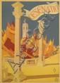 GIOVANNI GUERRINI (1887-1972). CESENATICO. 1927. 39x27 inches, 100x70 cm. Novissima, Rome.