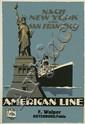 OTTOMAR ANTON (1895-1976). NACH NEW YORK UND SAN FRANCISCO / AMERICAN LINE. Circa 1925. 39x26 inches, 99x67 cm. Muhlmeister & Johler, H