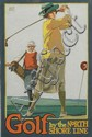 WILLARD FREDERIC ELMES (1900-1956). GOLF BY THE NORTH SHORE LINE. Gouache maquette. Circa 1923. 21x14 inches, 54x37 cm.