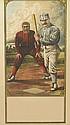 DESIGNER UNKNOWN. [BASEBALL.] Circa 1885. 23x12 inches, 60x30 cm. John B. Sage, Buffalo, New York.