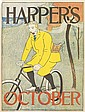 EDWARD PENFIELD (1866-1925). HARPER'S OCTOBER. 1894. 17x13 inches, 45x33 cm.