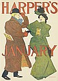 EDWARD PENFIELD (1866-1925). HARPER'S JANUARY. 1895. 17x12 inches, 45x32 cm.