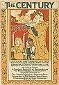 LOUIS J. RHEAD (1858-1926). THE CENTURY / FOR XMAS. 1895. 21x14 inches, 53x35 cm. G.H. Buek & Co., New York.