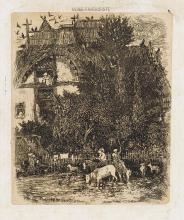 RODOLPHE BRESDIN Two etchings.
