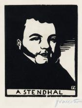 FÉLIX VALLOTTON Two woodcuts.