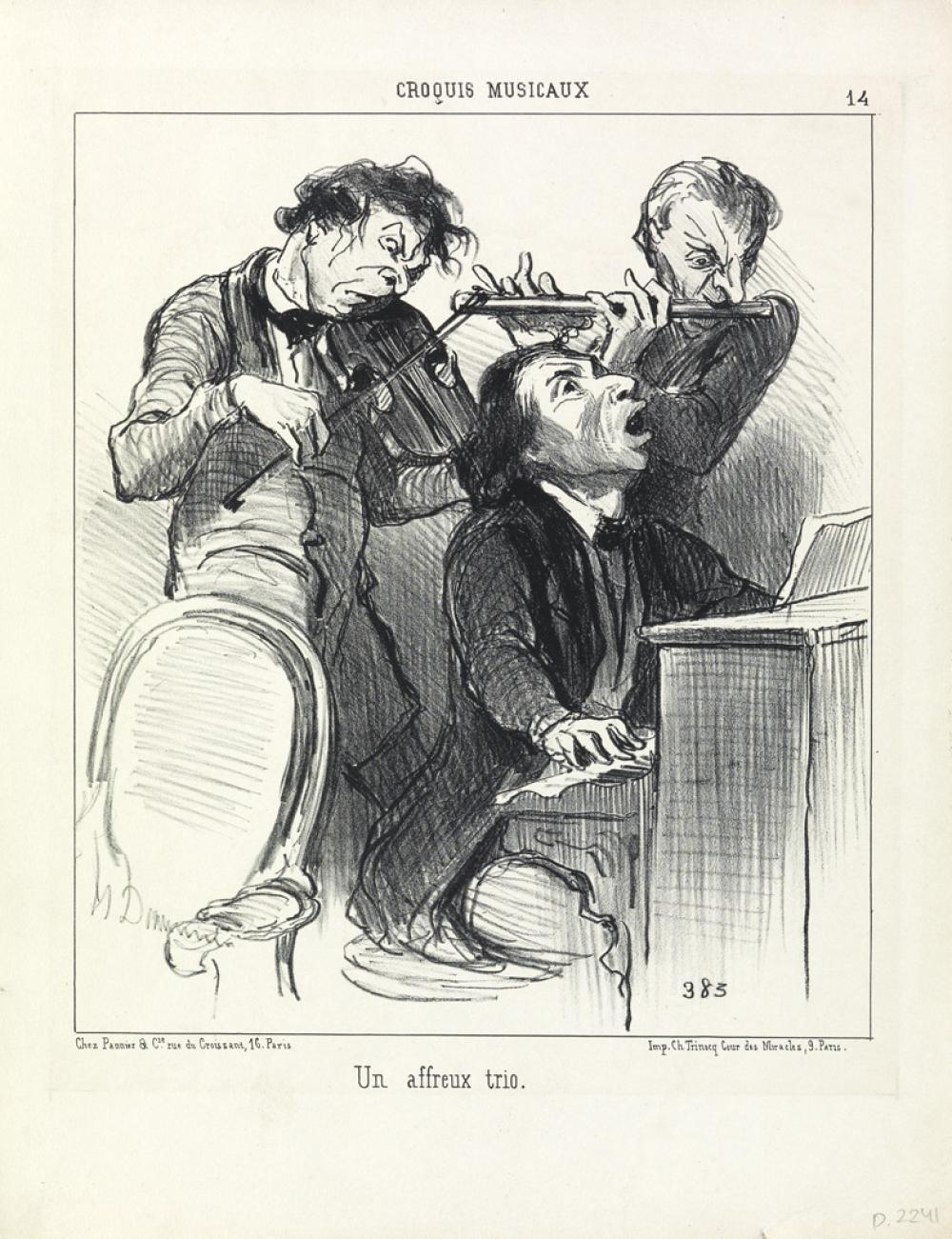 Lot Detail - Eight Honore Daumier Lithographs.