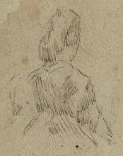 JAMES A. M. WHISTLER Study of a Woman, from behind.