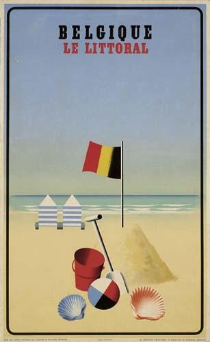 LEO MARFURT BELGIQUE LE LITTORAL. 1938.