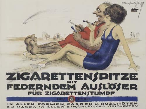 THEO MATEJKO ZIGARETTENSPITZE. Circa 1919.