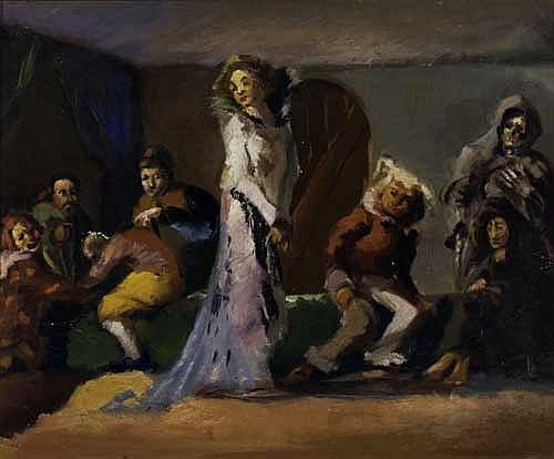 JAMES A. PORTER (1905 - 1970) The Masquerade.